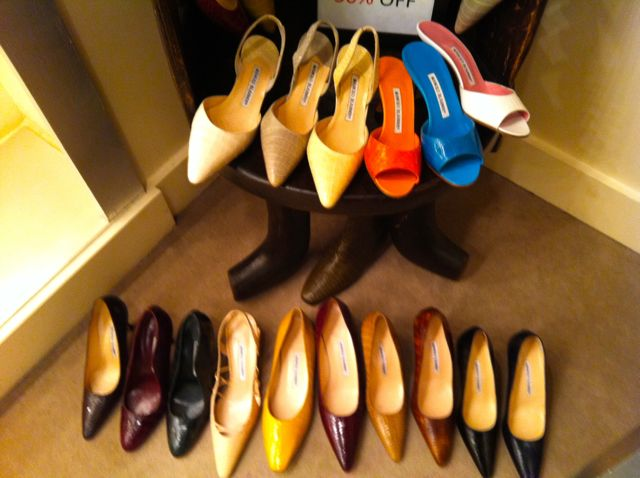 manolo blahnik sample sale may 2014